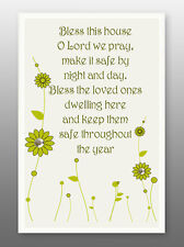 Home Blessing Glass Plaque - Sentiments Product Range  House Holy Religious Gift