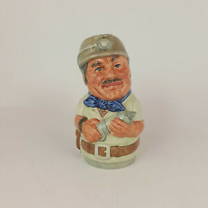 Royal Doulton Doultonville Toby Jug - Mike Mineral the Miner D6741 – 485 RD