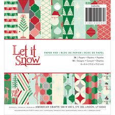 American Crafts Christmas 6 x 6 Paper Pad Let it Snow