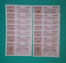 1 LIRA ITALIA LAUREATA LUOGOTENENZA 23/11/ 1944-BOLAFFI /FDS NUMERI PROGRESSIVI