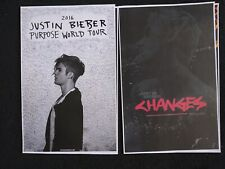 Justin Bieber 11x17 Purpose changes concert promo Tour Poster tickets shirt