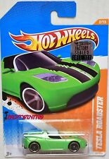 HOT WHEELS 2011 TRACK STARS TESLA ROADSTER #2/15 GREEN FACTORY SEALED