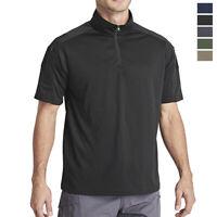 Men's Tactical T-Shirt Long Sleeve Quick Drying 1/4 Zip Up Military Mesh Tops