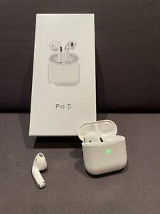 New 2021 EarPods - White Bluetooth Headsets with Charging Case & Charging Cable