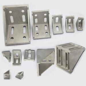 T Slot  L Shape Aluminum Right Brace Corner Angle Bracket Profile 20/30/40/60/80