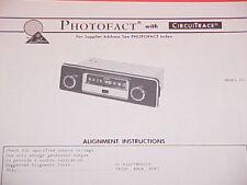 1973 MEDALLION AM RADIO SERVICE MANUAL 65-302 CHEVROLET FORD CHRYSLER DODGE