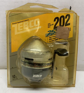 Vintage 1986  Zebco  202. 25th Anniversary. New in Pack .Made in USA.. Rare