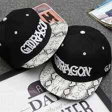 G-Dragon BIGBANG Hat GD Hip Hop Snapback KPOP Baseball Cap Black Adjustable