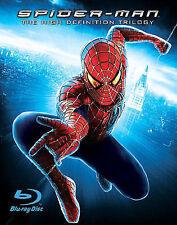 Spider-Man 1, 2, 3 (Blu-ray Disc, 2007, 4-Disc Set) NEW SEALED