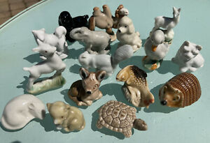 Wade Whimsies Figurine 16 pc Collection Vintage to current