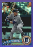 2011 Topps Chrome Purple Refractors #166 Victor Martinez/499