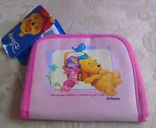 DISNEY Winnie The Pooh and Piglet pink purse, room for cards, notes & coins