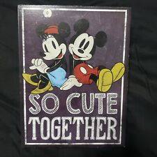 Vntg Style Walt Disney Mickey Mouse & Minnie Mouse Wall Art. Wooden.