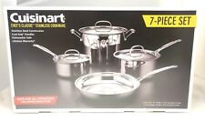 Cuisinart 77-7 Chef's Classic Stainless 7-Piece Cookware Set,Silver