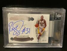 2017-18 Panini Flawless Honored Numbers Reggie Miller 10/25 #HN-RM Auto BGS 9/10