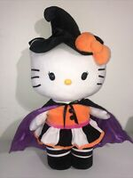 Hello Kitty Halloween Witch Cat Gemmy Sanrio Plush Door Greeter Stuffed Animal