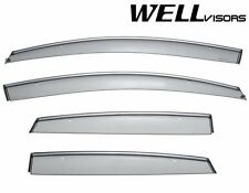 WellVisors Side Window Deflectors Visors with Chrome Trim For 11-UP Buick Verano