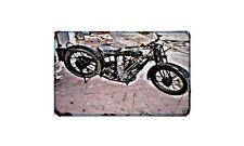 Bsa Sloper Motorbike Sign Metal Retro Aged Aluminium Bike