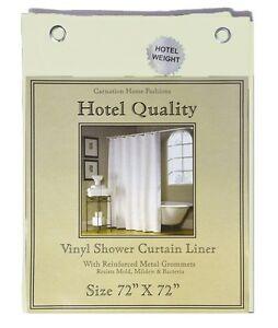 """Bone Heavy Weight Hotel Quality 8-gauge Vinyl  Shower Liner: 72"""" x 72"""""""