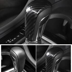 For Mazda3 BP 2019 2020 2021 Interior Black Gear Shifter Knob Kit Cover Trim