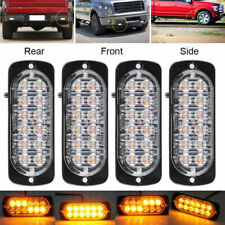 4X 12LED Amber Emergency Flashing Strobe Light Truck car Recovery Beacon Lamp UK
