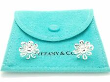 Tiffany & Co. Paloma Picasso Sterling Silver Daisy Stud Earrings in Pouch & Box