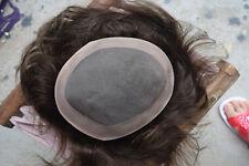 Men's Hairpiece Human Hair Toupee Wig Mono Base Breathable Mens Toupee System