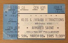 1985 METALLICA ARMORED SAINT HOLLYWOOD CA CONCERT TICKET STUB RIDE THE LIGHTNING
