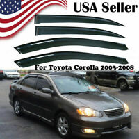 Fit Toyota Corolla 2003 2004 2005 2006 2007 2008 Window Visor Rain Guard Trim US