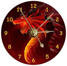 NEW Cool Red Dragon CD Clock