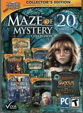 SHIVERS MOONLIT GROVE Hidden Object MAZE OF MYSTERY 20 PACK PC Game NEW
