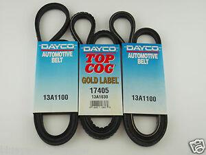 Ford Courier fan belt kit suits 2.5l 4cyl diesel WL & WLAT eng 5/1996-12/2006