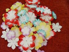 100 pcs Luxury mulberry flower paper/ card embellishments assorted