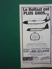 80'S PUB COMPAGNIE HEAVY LIFT CARGO AIRLINES BELFAST SUPER HERCULES FRENCH AD
