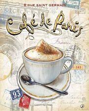 CHAD Barrett: Cafe París Imagen TERMINADA 24x30 Mural Cocina Café Decoración