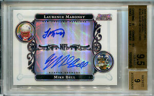 2006 Bowman Sterling LAURENCE MARONEY MIKE BELL Refractor Dual Auto RC BGS 9.5