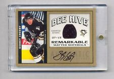 SIDNEY CROSBY 2006 UPPER DECK BEE HIVE REMARKABLE AUTO JERSEY #7/15 PENGUINS