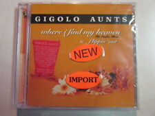 GIGOLO AUNTS WHERE I FIND MY HEAVEN & FLIPPIN' OUT 2003 2CD INDIE ROCK POWER POP
