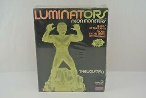Luminators Neon Monsters The Wolf Man 1991 Monogram Models Germany Ages 10+ NIB