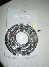 YANKEE CANDLE ILLUMA-LID CHRISTMAS LIGHTS CANDLE TOPPER 2016 NEW