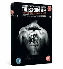THE EXPENDABLES LIMITED EDITION BLU RAY STEELBOOK SET COLLECTORS TIN STEEL BOOK