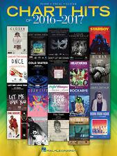 Gráfico Hits de 2016-2017 (PVG Libro) Piano, Vocal & Guitarra Partituras mezclar Songb