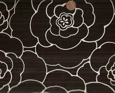 Camellia black white floral flowers Alexander Henry fabric