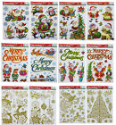 Snowflake Window Stickers Clings Santa Christmas Tree Christmas Decorations