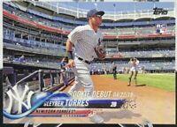 2018 Topps Update #US191 GLEYBER TORRES Rookie Debut New York Yankees RC