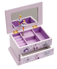 Lilac Beautiful Ballet Dance Wooden Music Jewellery Box By Katz Dancewear JB10