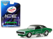 "1968 CHEVROLET CAMARO RS/SS GREEN ""TURTLE WAX ICE"" 1/64 DIECAST GREENLIGHT 30018"