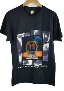 Vintage Mens Jeff Healey Band Feel This T Shirt Medium M Vtg Single Stitch 92