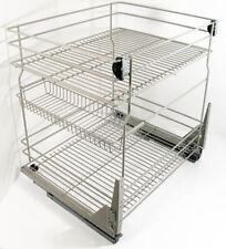 3Fächer SoftClose Korb korbuszug Küchenunterschrank für Unterschränke 40cm 60cm