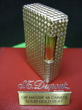 VERY RARE REVISED S.T. DUPONT 18K 750 SOLID GOLD LIGHTER L1 WITH BOX AND PAPERS